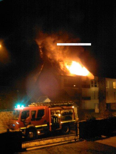 Feu d'immeuble. 19 janvier 2011