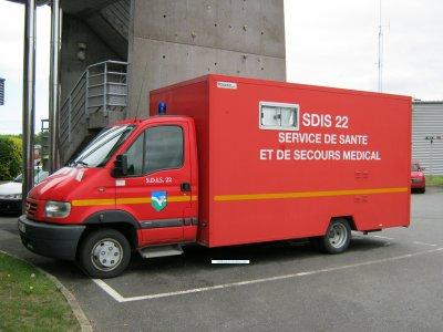 Véhicule cabinet médical. SDIS 22