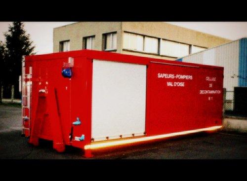 Cellule de décontamination n°1. Argenteuil. (SDIS 95)