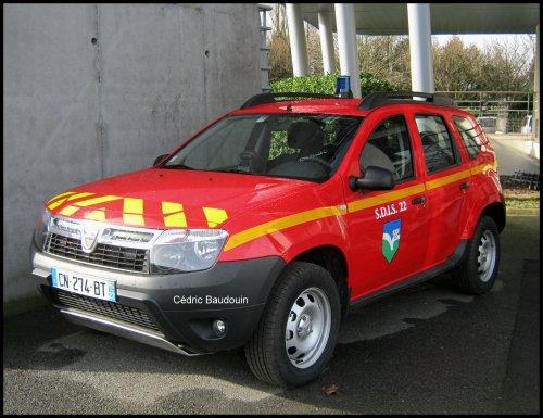 Nouveaux Dacia Duster. SDIS 22