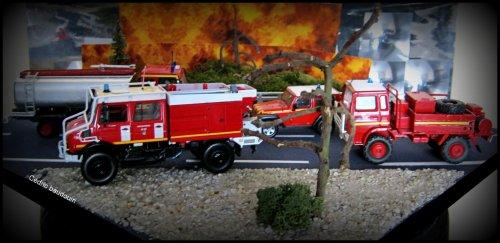 """Diorama """" ligne d'arrêt feux de forêt """" 2"""
