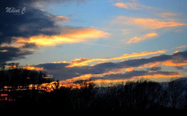 Coucher de soleil, d'un soir d'hiver.