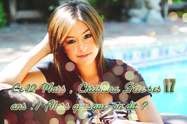 HAPPY BIRTHDAY CHRISTINA VICTORIA GRIMMIE , WE LOVE YOU <3 ! :)