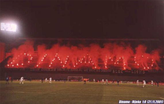 Les supporters du Dinamo Zagreb