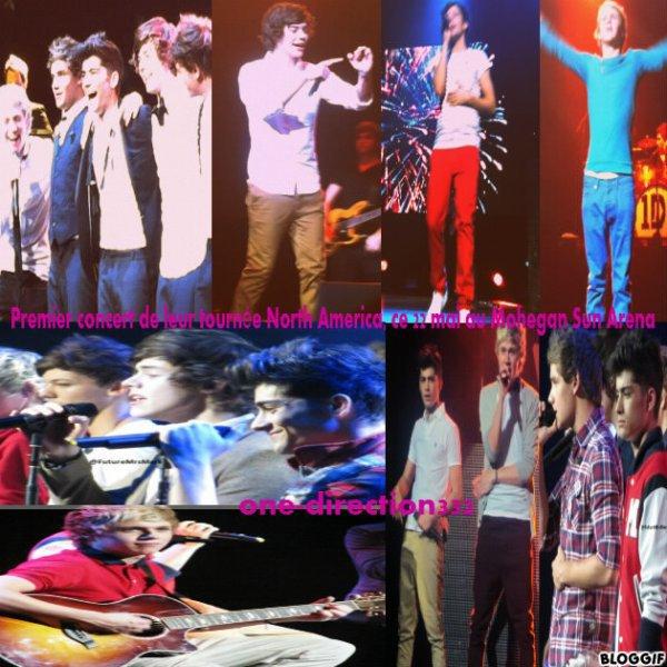 les boys de leur premiere concert de leur tournée North America, ce 22 mai au Mohegan Sun Arena