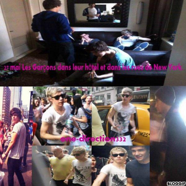 27 mai Les Garçons dans leur hôtel et dans les rues de New York.