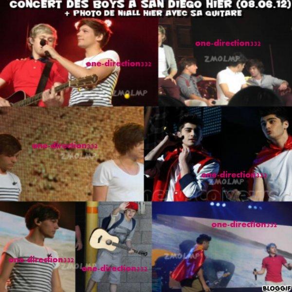 le 08/062012 les boys font leur a san diego hier + une photo de niall avec sa guitare