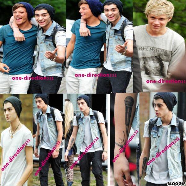 le 13/07/2012 les garcon sortant du studio a london