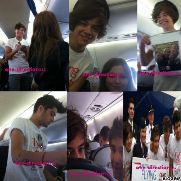 le 21/07/2012 les garcon ont était veut avec des fan dans l avion a londre