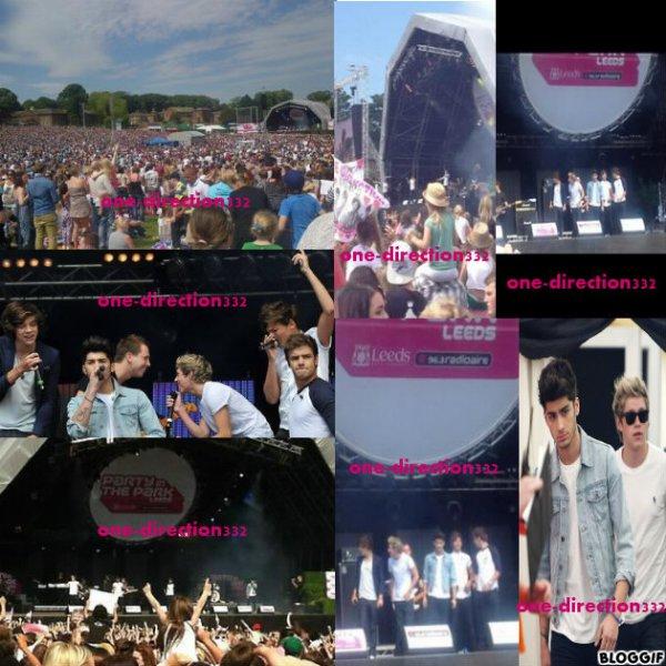 le 22/07/2012 les boys ont était présente sur scene a Party in the Park de Leed.