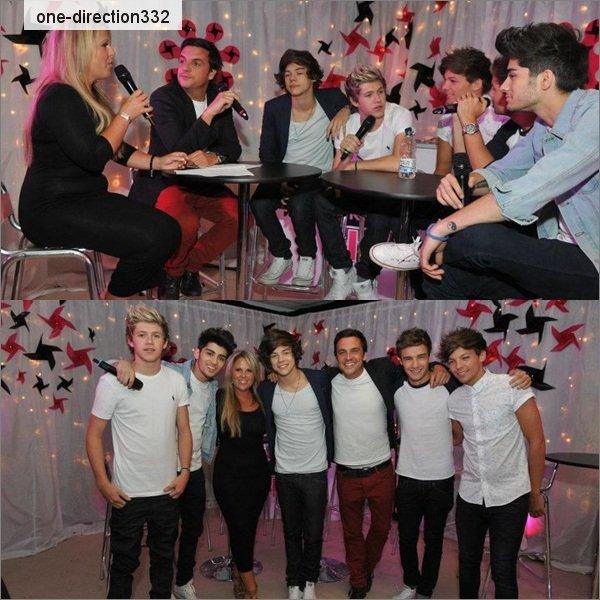 le 22/07/2012 Les garçons donne une interview pour Key 103 Live a Manchester