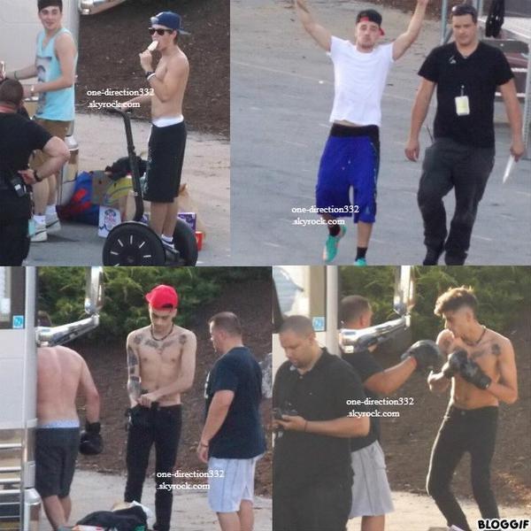 le 6 juillet 2013 - Niall et Harry à l'aréna de Hershey