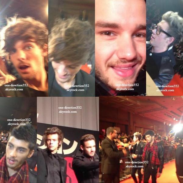 le 3 novembre 2013 - les boys  à l'avant-première de This Is Us à Tokyo