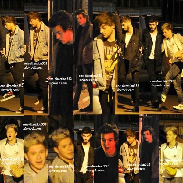 le 16 novembre 2013 - Niall, Harry, Louis & Zayn se rendant dans un studio à Londres