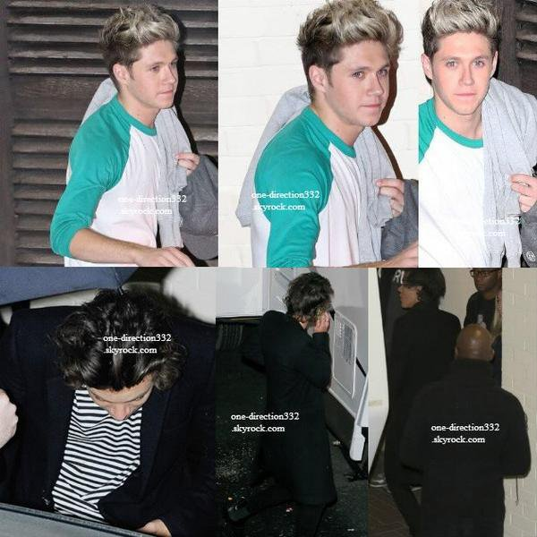 le 19 novembre 2013 - les boys à l'aéroport de Heathrow direction pour los angeles