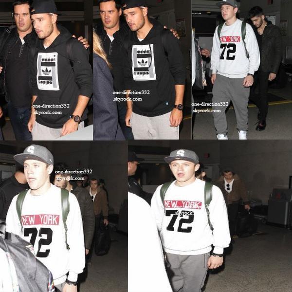 le 19 novembre 2013 - les boys ont été vue à l'aéroport de LAX