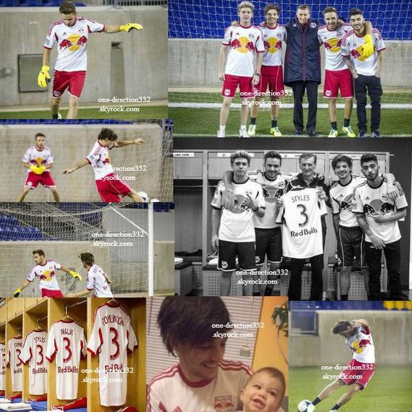 le 5 decembre 2013 - Zayn, Liam, Louis et Niall au Red Bull Arena.