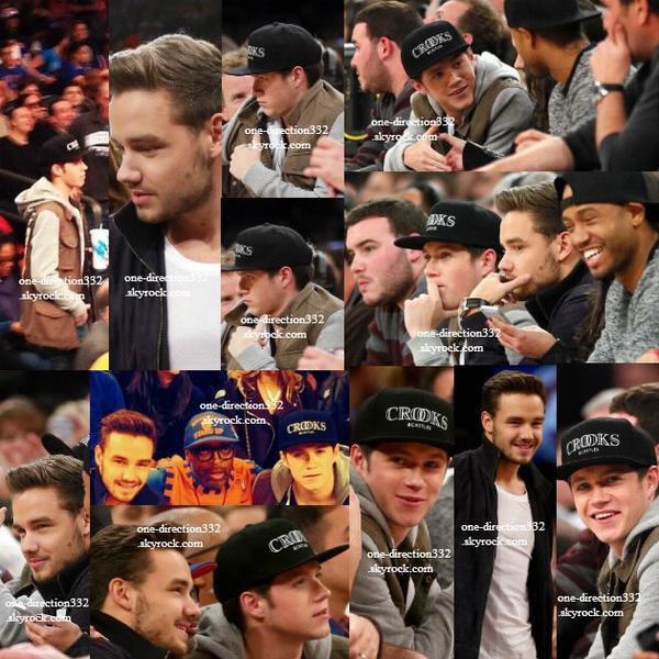 le 6 decembre 2013 - Liam et Niall ont été voir un match de basketball. .