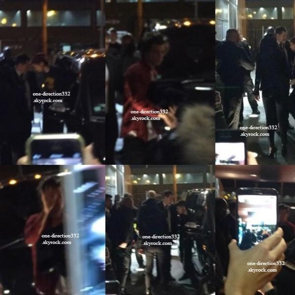 le 15 decembre 2013 - Harry arrivant à l'hôtel de Kendall Jenner