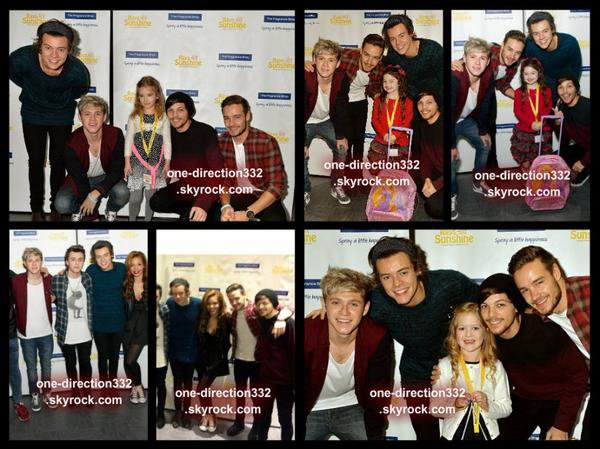 le 15 decembre 2013 - Harry, Louis, Liam & Niall à Rays of Sunshine
