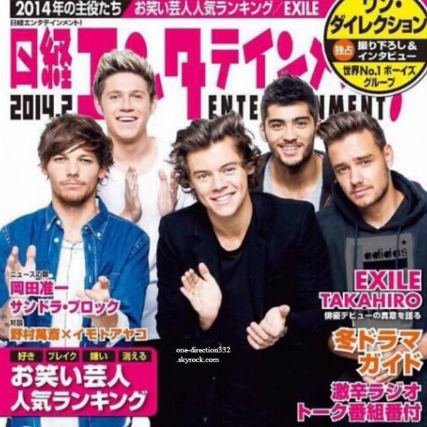 Les boys sont en couverture d'un magazine japonais.