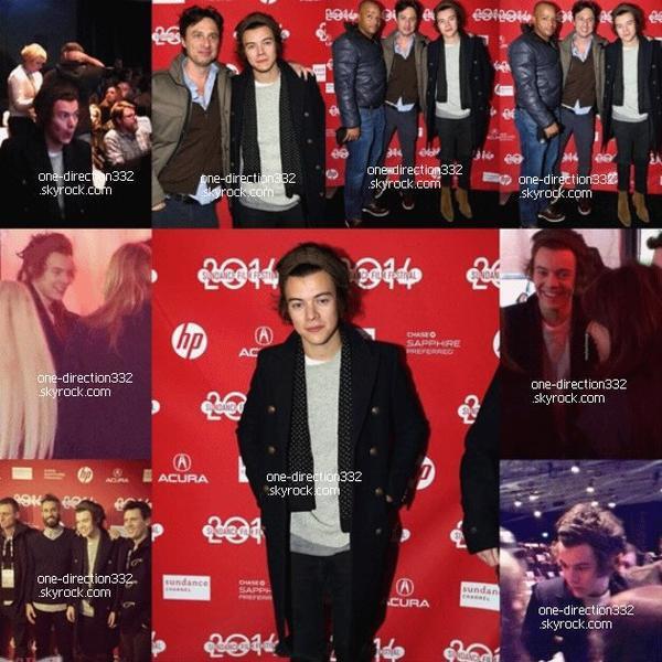 """le 18 janvier 2014 - Harry à l'avant-première de """"Wish I Was Here"""" dans l'Utah"""