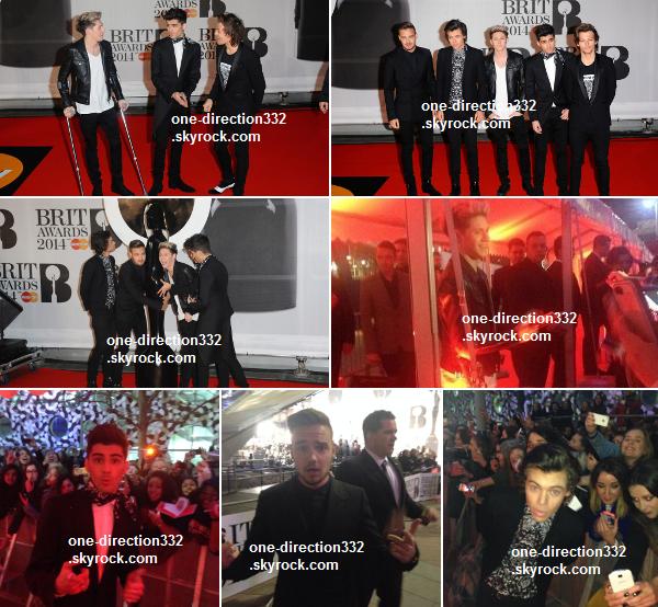 le 19 février 2o14 | les boys sur le tapis rouge des Brit Awards