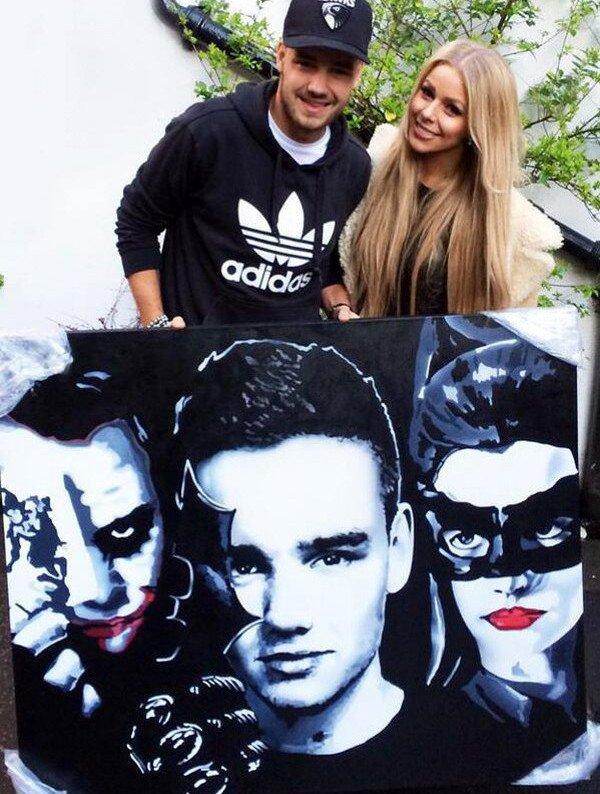 le  o1 avril 2o14 - Liam et Harry avec une fan après les répétitions.