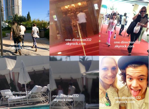 le 17 avril 2o14 .|. Harry a pris des photos avec deux fans