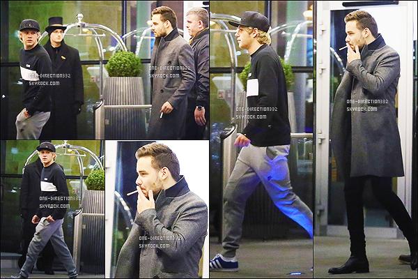 le 11 décembre 2014 ♥ Liam et niall ont été vus sortant d'un hotêl de la capital
