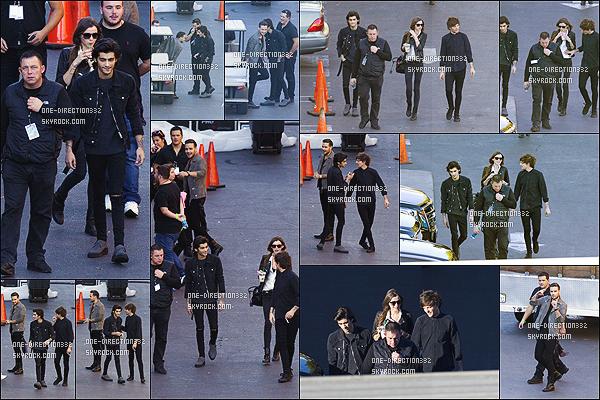 le 21 novembre 2014 ♥ Liam, Louis, Zayn et Eleanor dans les studios de la CBS.