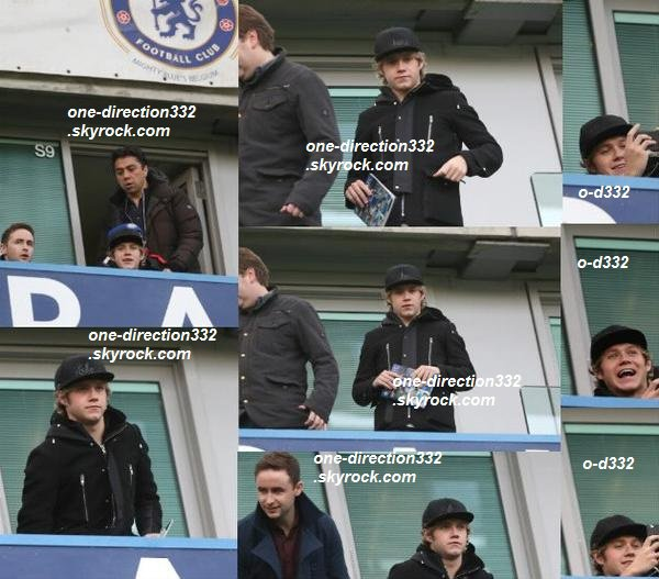 le 10 janvier 2015 - Niall a été voir le match de football Chelsea vs. Newcastle United.