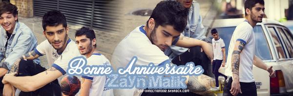 le 12 janvier 2015 - c'est l'anniversaire de notre beau zayn malik fete ses 22 ans