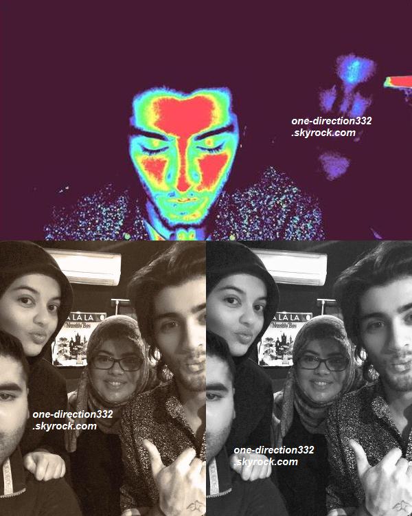 le 16 janvier 2015 - Zayn a passé la journée avec Naughty Boy.