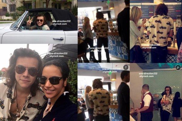 le 22 janvier 2015 - harry a était veut dans un yougourt et bar avec une amie