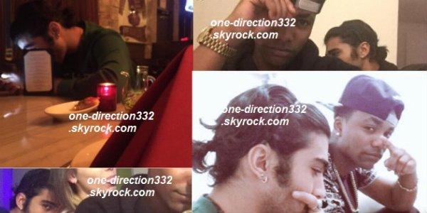 le 28 janvier 2015 - Zayn a passé la journée avec des amis avant de diner avec eux au restaurant dans la soirée.