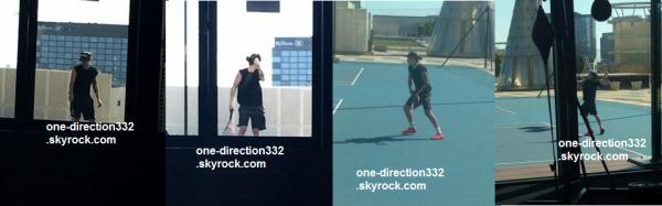 le 16 février 2015 - Harry jouer au tennis. Melbourne, Australie.