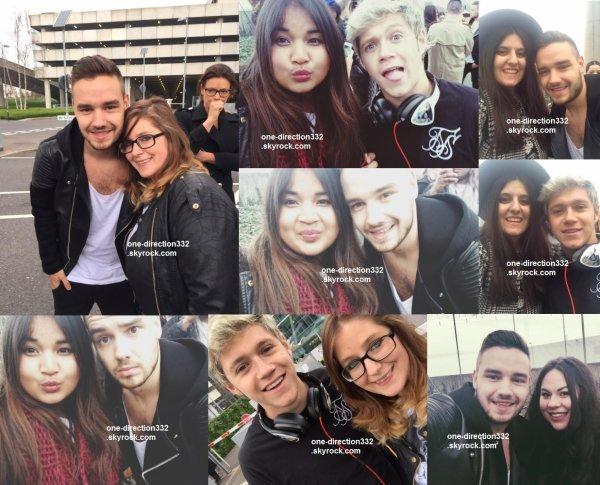 le 5 avril 2015 - liam et niall avec des fan à londres