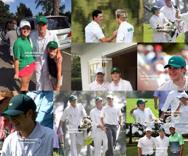 le 8 avril 2015 - niall pour Rory McIlroy au concours Maîtres Par 3 / Augusta, GA,
