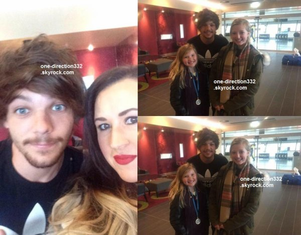 le 12 avril 2015 - louis avec des fans à Manchester