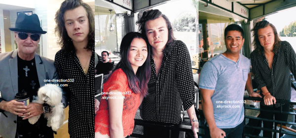 le 20 avril 2015 - harry avec des fans à los angeles