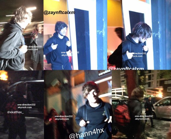 le 26 avril 2015 - louis quittant le studio à londres