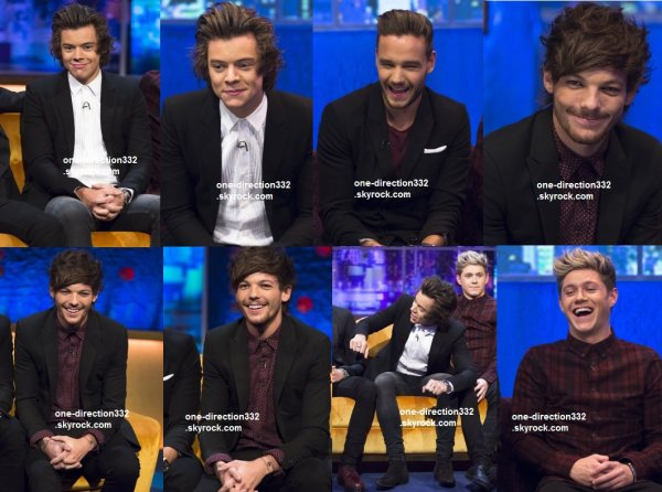 flash-back - le 15 novembre 2014 - les boys au The Jonathan Ross Show