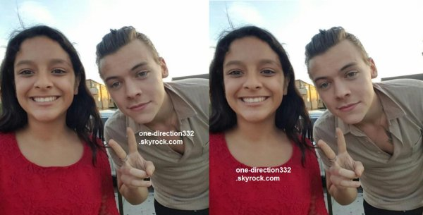le 10 mai 2015 - harry avec une fan à los angeles