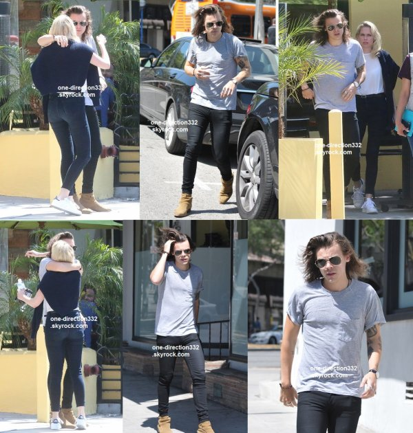 le 20 mai 2015 - Harry au Fresh Corn Grill à los angeles