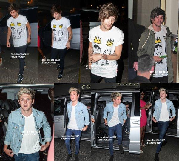le 1 juin 2015 - Niall et Louis au Libertine discothèque à Londres