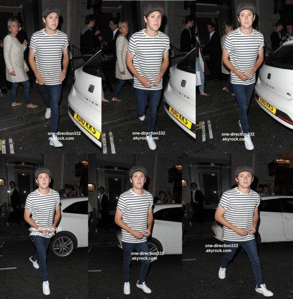 le 3 juin 2015 - Niall laissant le restaurant Nobu dans Mayfair
