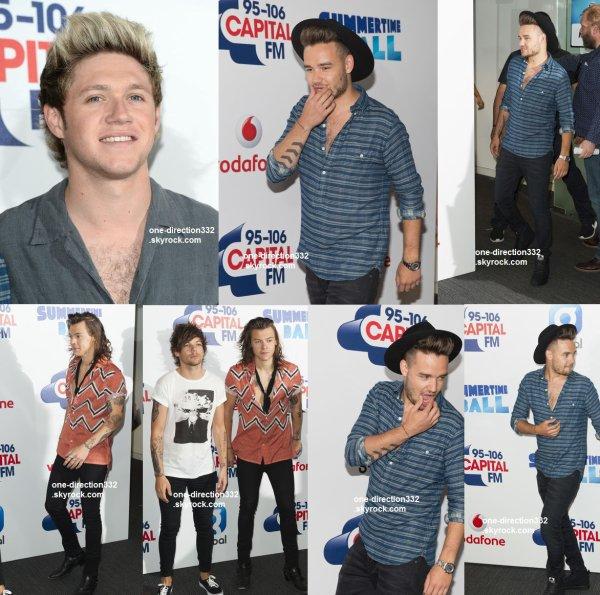 le 6 juin 2015 - les boys au Capital FM's Summertime Ball à londres