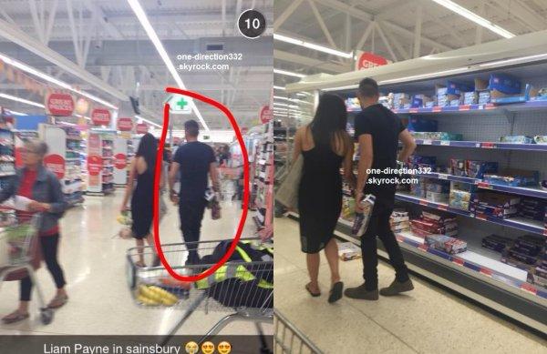 le 8 juin 2015 - liam et sophia dans un super marché à londres