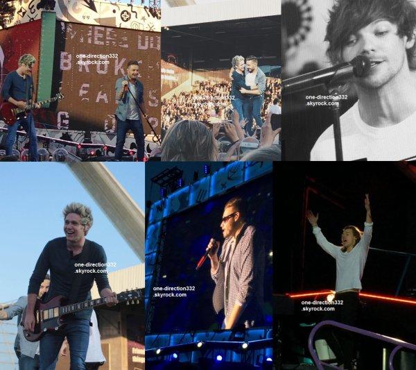 le 16 juin 2015 - les boys ont fait leur concert à Horsens, Casa Arena